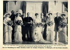Vermählung der Gräfin Bernstorff mit dem Grafen Pourtalés Histor.Memorabile 1911