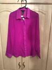 Purple Patterned Smart Shirt Size 10 New