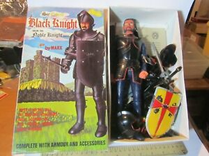 VINTAGE MARX SIR CEDRIC BLACK KNIGHT NOBLE KNIGHT SERIES