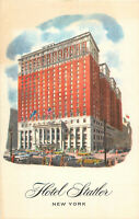 Postcard Hotel Statler, New York, NY