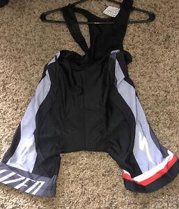 Specialized Breathable Mesh Padded Bib Bike Cycling Shorts Black Gray Logo S NWT