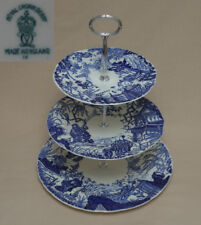 "Royal Crown Derby ""Mikado"" (Blue) THREE TIER CAKE STAND"