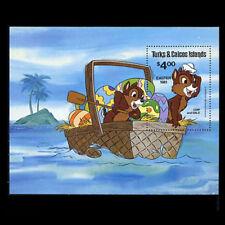 "Turks & Caicos, Sc #480, MNH, 1981, S/S, Disney, ""Chip & Dale"", Easter, DI335F"