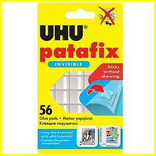 UHU Patafix Double-Sided Adhesive Invisible/Transparent - 1 pack of 56 glue pads