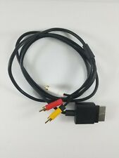 Official Microsoft Xbox 360 AV Composite Audio Video Cable Black X821376-001