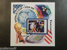 TANZANIE, TANZANIA 1994, BLOC FOOTBALL WORLD CUP USA, oblitéré, SPORT, VF STAMP
