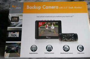 "NEW Yada (BT53872M-2) Matte Black Digital Wireless Backup 3.5"" Dash Monitor"