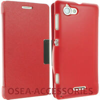 FOR SONY XPERIA L S36H C2104 C2105 LEATHER CASE COVER POUCH FLIP WALLET BACK