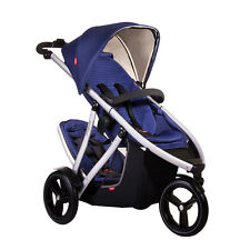 Phil & Teds New Vibe V3 Stroller & Double Kit Cobalt - Includes Double Seat