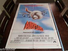 AIRPLANE ! Original 1980 Leslie Nielsen Movie NSS Poster 27x41 Folded 1 Sheet