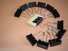 12 Stk. Alco 781 Foldbackklammern schwarz 19mm Foldback-Clips Klammern NEU & OVP