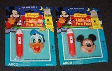 MICKEY MOUSE DONALD DUCK FLASHLIGHT Light-up FUN FACE DISNEY ARCO free shipping