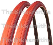 "2 CST 27""x1-1/4"" RED Road Bike Tires Track Fixed Gear Bicycle Pair Tyre 27 Inch"
