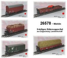 Aus Märklin 26578 nur die 5 Güterwagen der DB #NEU in OVP#