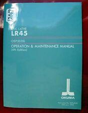 Okuma Lr45 Cnc Lathe Operation & Maint. Manual 3394-E-R2 (Inv.12067)