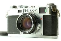 【 Exc+5 】Nikon S2 Rangefinder Film Camera w/ Nikkor-H 50mm f/ 2 Lens from JAPAN
