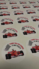 Racing Car F1 Theme Stickers 37mm Celebrate Party Birthday Sweet Cones Gift Bag