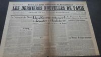 JOURNAUX LES DERNIERES NOUVELLES DE PARIS N°34 JUILLET 1940 ABE