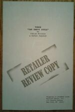 """Turok: The Empty Souls"" original Retailer Review Copy by Fabian Nicieza"