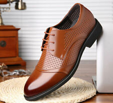 Men's Leather Dress Formal Shoes Hollow Out Summer Breathable Business Sandals