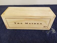 "The Maiden wine wine crate holds 1 btt size 5""x5""x13"""