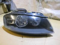 AUDI A3 8P FRONT RIGHT HEADLIGHT LAMP DRIVER SIDE OSF 8P0941004C 2004 > 2008