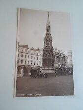 Old Postcard CHARING CROSS, LONDON+Bakers Tobacconist Shop +Vintage Cars §A1287