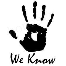 Skyrim We Know sticker VINYL DECAL Dark Brotherhood Legendary PlayStation Xbox