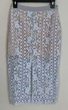 Womens Endless Rose Blue Crochet Skirt Size S