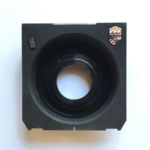 Linhof recessed lens board for 90mm lenses in copal/compur No.0 lenses
