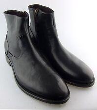152465 ESBT50 Men Shoes Size 8.5 M Black Leather Side Zip Boots Johnston Mu