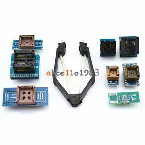 8 Programmer Adapters Sockets Kit for TL866II Plus EZP2010 with IC Extractor