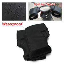 Black Motorcycle  Waterproof Handle Bar Grip Gloves Muffs Winter Protection