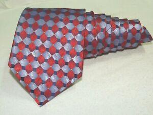 """Robert Talbott MEN'S TIE RED & BLUE/GEOMETRIC W: 4.2/8"""" L: 56"""""""