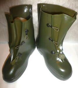 AIGLE Over The Shoe RUBBER BOOTS SZ 11 - 12 Farm Boots Garden Boots Rain Boots