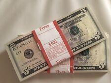 (10) Five Dollar Bills NEW $5 Paper Money BEP Pack $50 Bundle Stack Uncirculated