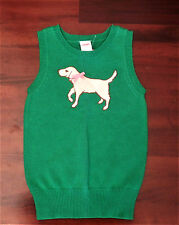 NWT GYMBOREE Smart Girls Rule Bright Green Puppy Sweater Vest Sz 3/4 3T 4T