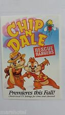 Disney Afternoon Postcard Chip N Dale Rescue Rangers 1989 Promotional Post Card