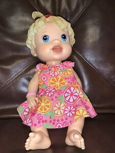 Hasbro Baby Alive BABY ALL GONE Talking Blonde Doll 2009