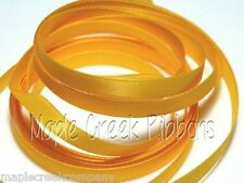 "3yd of Light Gold (Yellow Gold) 3/8"" Double Face Satin Ribbon 3/8"" x 3 yards"
