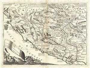 1690 Coronelli Map of Montenegro