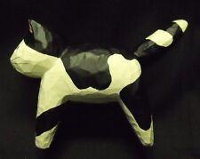 "Rare Hallmark Folk Art Wood Look Black & White Cat GCH7809--3.5 x 2.5"" High MIP"