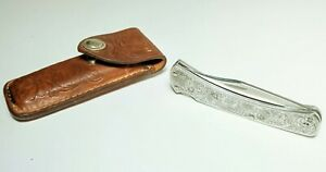 Buck Knife 111 Classic 3 Dot and Sheath Sterling Silver