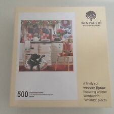 "Wentworth 500 Piece Wooden Jigsaw Puzzle, ""Whimsy"" pieces - Christmas Kitchen"