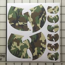 "Wu Tang Street Wear Set 5"" & 1.5"" Camo Vinyl Decal Sticker Set - Free Shipping"