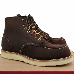 """New!!! Size 7.5D - Red Wing 8878 - Classic Moc 6"""" Suede Java Brown Boots - USA"""