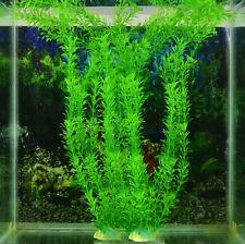 Green Artificial Aquarium Fish Tank Plastic Plant Grass Ornament Decor 40cm