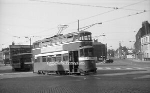 35mm negative Leeds Corporation Tram 505, 177, Leeds 02-06-57