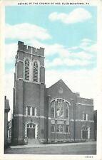 Elizabethtown Pennsylvania~Bethel of Church of God~1920s Blue Sky Postcard