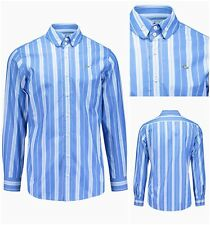 NWT 100% AUTHENTIC VIVIENNE WESTWOOD BLUE STRIPED KRALL ORB SHIRT. IT 48, MEDIUM